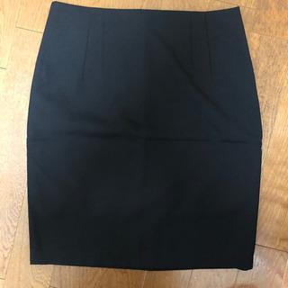 【美品】韓国OL風 黒 Hラインスカート LLサイズ