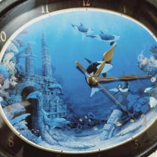 【ジャンク品】クリスチャン・ラッセン壁掛け時計あげます