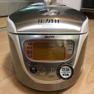 炊飯器 圧力IH 5.5合炊き(チタンコート厚釜)中古