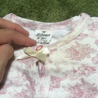 赤ちゃん 花柄長袖ロンパース