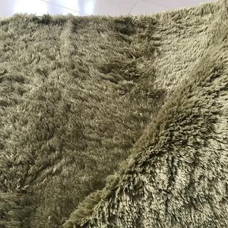 ラグマット 200cm x 200 絨毯 マイクロファイバー 緑