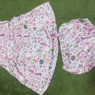 ピンク不思議な国のアリス柄赤ちゃん服