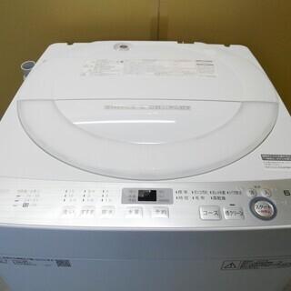 配達可 SHARP 全自動洗濯機 6.0kg ES-GE6B-W...