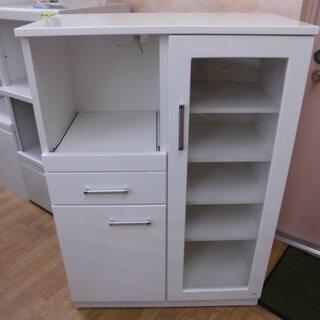 ミドルレンジボード キッチンボード キッチン収納 食器棚 白 幅...