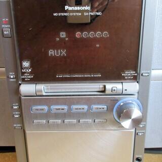 ☆パナソニック Panasonic SA-PM77MD SB-PM77 SC-PM77MD CD・MD・カセットミニコンポ◆CD5チェンジャー - 家電