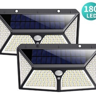 【新品・未使用】センサーライト 屋外 ソーラーライト 180LE...