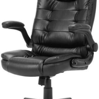 オフィスチェア デスクチェア 社長椅子 事務椅子 可動式アームレ...