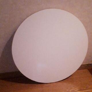 《丸テーブル 折り畳み式 直径60 高さ30 ホワイト》