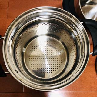 パスタポット IH 鍋 パスタ スパゲティ 麺 20cm ガス火もOK - 生活雑貨