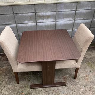 ダイニングテーブルセット椅子2脚付き