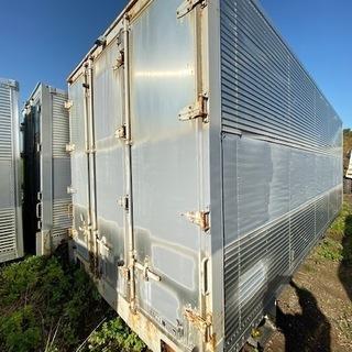 希少鍵付き【格安】4トン箱 コンテナ 物置 倉庫 アルミ箱 格安...