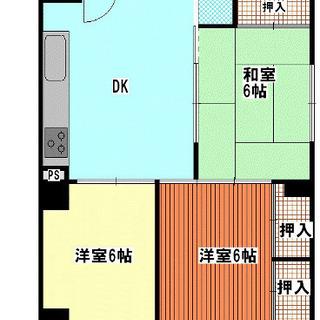 平尾駅まで徒歩6分! 3DKライオンズマンション分譲賃貸マンションです