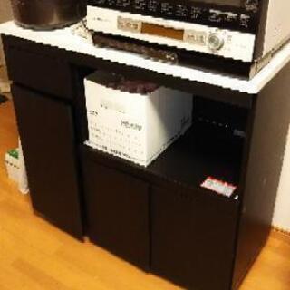 【引取限定 東京都大田区】食器棚 レンジ台
