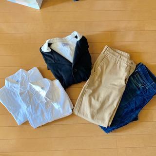 メンズ ユニクロ暖パン×2 綿Yシャツ コート