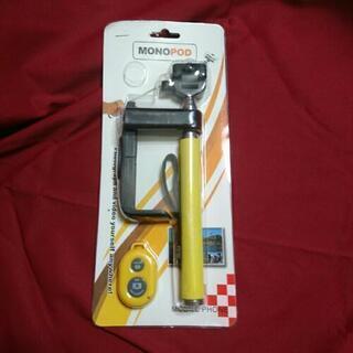 《未使用》自撮り棒  リモコン付き  黄色