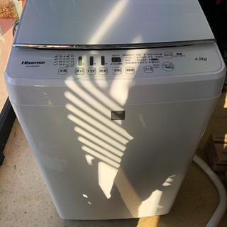 2016年製の洗濯機 4.5kg 美品