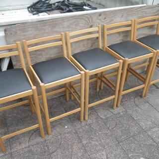 ■配達可■飲食店用 カウンターイス 5脚セット 居酒屋椅子 ハイチェア