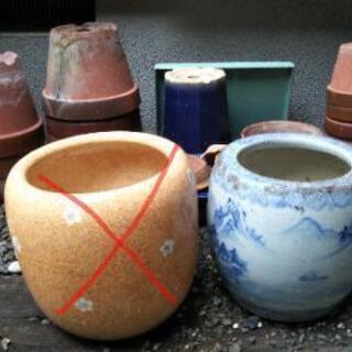【一部ご予約有り】10/27まで 🌷昔の火鉢、植木鉢など色々差し...