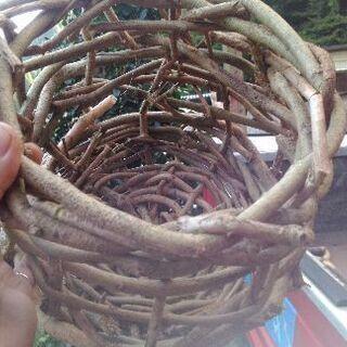 カズラ編みカゴ 葛 自然 ネイチャー ガーデニング