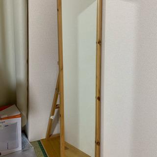 (無料) 天然木製 スタンドミラー 全身映る鏡 - 相談中