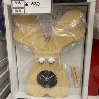 かわいいウサギ型時計を入荷致しました!