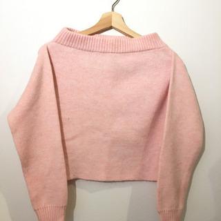 clazlir ピンク厚手ニットセーター#Cattleya109