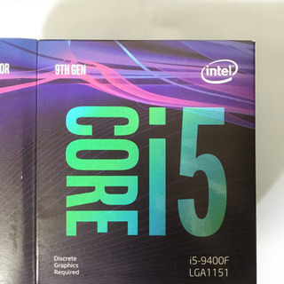CPU i5 9400F (2.9 Ghz 6 core コア)