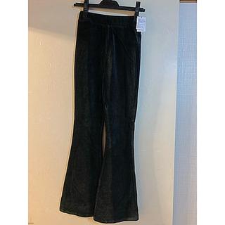 新品 EVRIS  ベロア素材パンツ ブラック