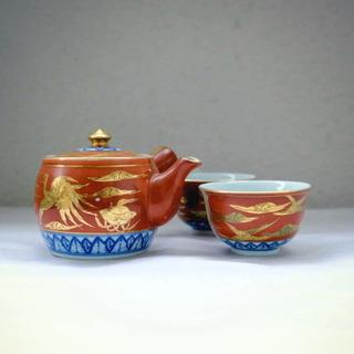九谷永楽 急須 湯呑み 湯飲み 茶器 セット 骨董品 アンティー...