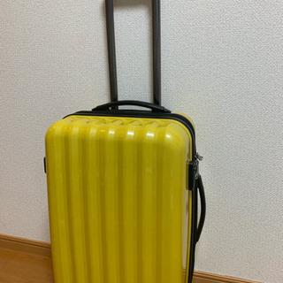 キャリーバック黄色、旅行