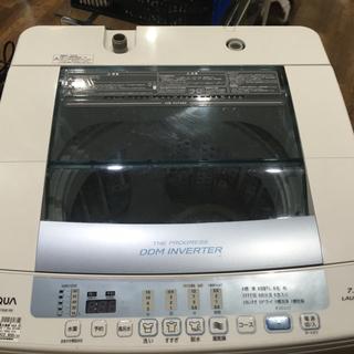 AQUA 7.0kg洗濯機 2016年製 AQW-V700E