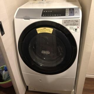 【美品】ドラム式洗濯乾燥機 日立 BD-SV110AL(W…