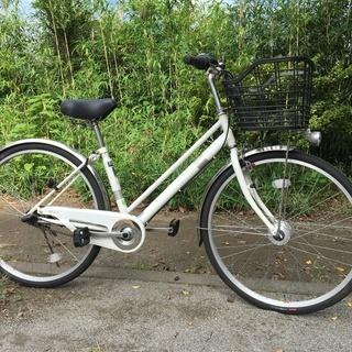 シティサイクル イオンバイク 27インチ 内装3段変速 ホワイト