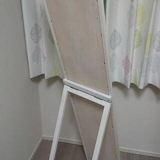 【全身姿見】【ミラー】【白】 150㎝×30㎝の全身鏡です。 - 立川市