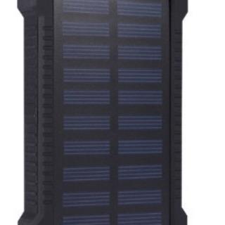 ソーラーモバイルバッテリー20000mAh☆防水☆LED機能付き