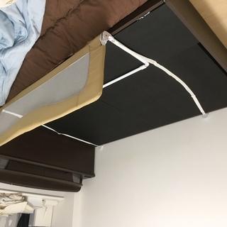 ダブルベット(フレームのみ)収納付きベッド