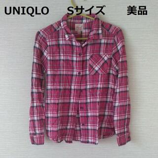 ユニクロ チェックシャツ 長袖シャツ Sサイズ