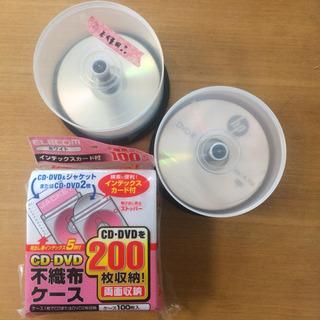 DVD-R  30枚 ・ CD-R  10枚 ・  不織布ケース...