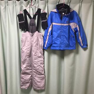 子供用 スキーウェア上下セット 150(135-155cm)、手袋
