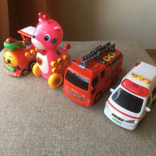消防車など4個セット