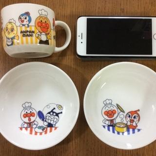未使用:アンパンマン小皿・マグカップ各150円