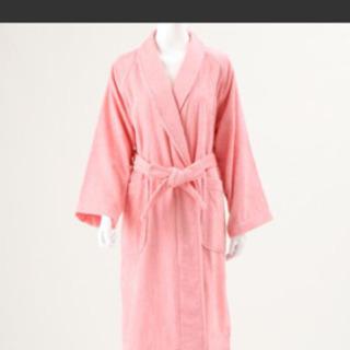 ウチノ バスローブ 厚手 ピンク