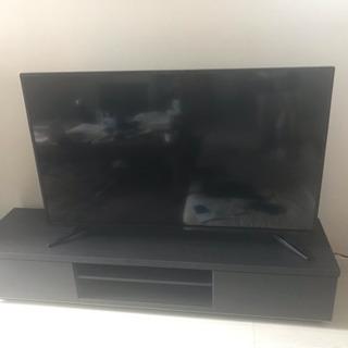 50V型テレビ+テレビ台 使用一年 単品のみも歓迎