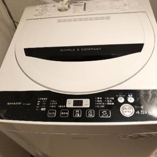 洗濯機 4.5kg SHARP ES-G45RC-W ホワイト系