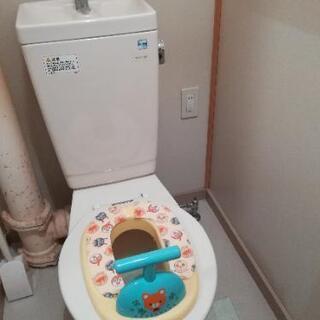 子ども用トイレに変身