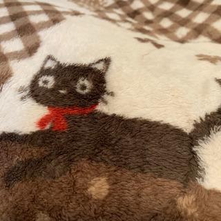 冬用カーペット ネコちゃん柄 短毛で汚れがつきにくい