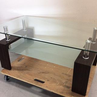 お洒落!ガラステーブル センターテーブル ローテーブル 強化ガラス