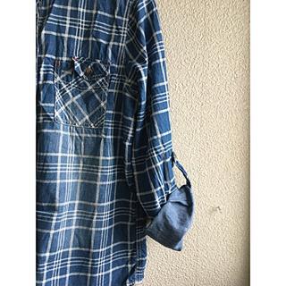 色むら風綿シャツ サイズL - 服/ファッション