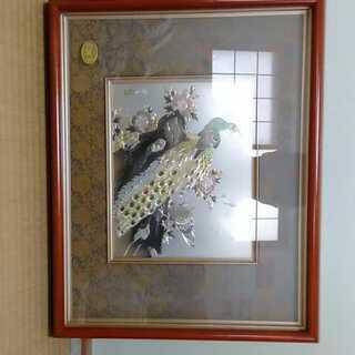 銅板彫刻 孔雀