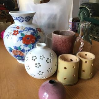 色鍋島和泉作、蛍焼き、その他花瓶
